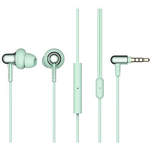 1MORE Stylish Dual Dynamic Driver In-Ear Kopfhörer Komfortable Leichtgewicht Kopfhörer mit 4 modernen Farben,Geräuschisolation, MEMS Mikrofon and In-Line Fernbedinung für iOS/Android/PC/Tab E1025-GN