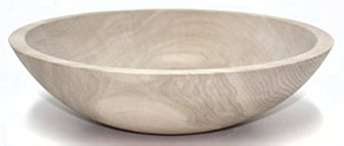 12 Inch Unfinished Solid Beech Wood Bowl