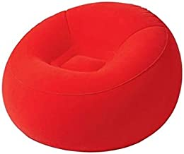 كرسي قابل للنفخ للرحلات والتخييم من بيست واي - احمر - 75052