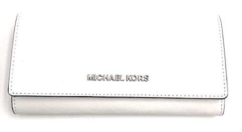Michael Kors Leather Carryall Wallet in Optic White