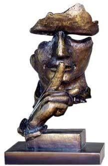Einzigartiges Handwerk Moderne Statue Einfache Büroschmuck, Kreative Harz Skulptur Studie Bücherregal Schreibtisch Desktop Ornament Skulptur Charakter Kunstwerk