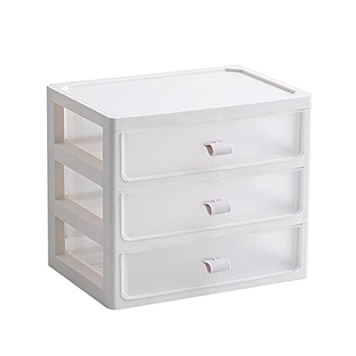 Tollk Lesse Caja de Almacenamiento de Escritorio en Forma de cajón, Organizador de Escritorio de Oficina de plástico, Maquillaje cosmético Organizador de Mesa de Mesa de Almacenamiento de Mesa