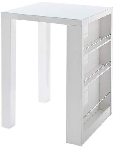 Robas Lund Club Table Bar, MDF laqué, Blanc, 80 x 80 x 107 cm