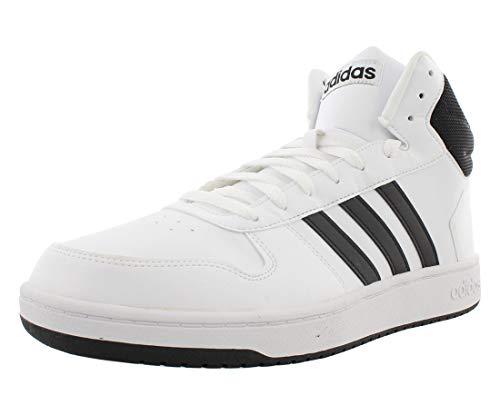 adidas Men's Hoops 2.0 Sneaker, White Black, 13 M US