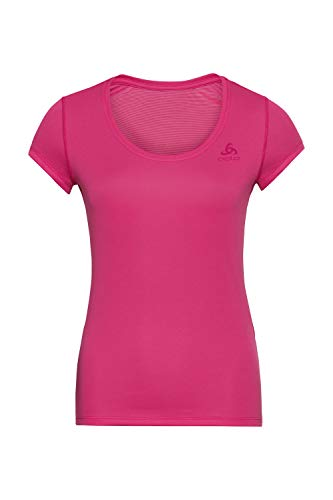 Odlo BL Top Crew Neck S/Active F-Dry Light Top Femme Beetroot Purple FR: M (Taille Fabricant: M)