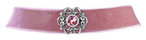 LUISIA® Samt Kropfband Annina mit Ornament und Kristall von Swarovski® - Altrosa