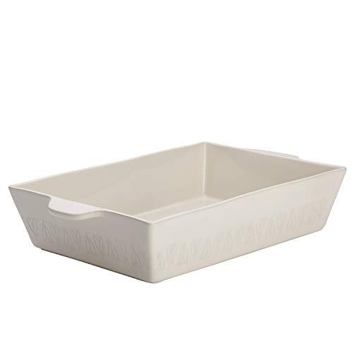 Ayesha Curry 9' x 13' Stoneware Baker, 9 Inch x 13 Inch, French Vanilla