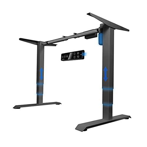 Spacetronik Mesa eléctrica regulable en altura, USB Fast Charger, marco de escritorio eléctrico, mesa ajustable, escritorio de altura regulable, color negro