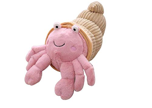 ZMMA Cartoon Hermit Crab Plush Toy, Adorable Soft Simulation Hermit Crab Plush Doll Funny Pillow for Children Birthday Gifts(35cm) ピンク