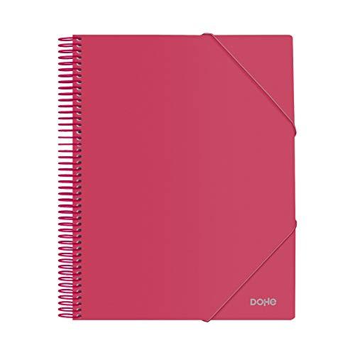 Carpeta de espiral - 30 fundas de 80 micras - Rojo