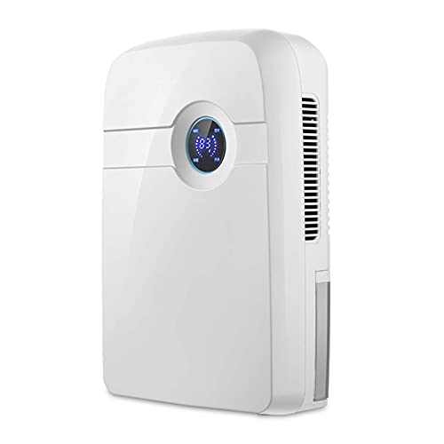 QCSMegy Piccolo deumidificatore Portatile Ultra-Silenzioso, con la Funzione di spegnere Il Display Durante la Notte, Funzione di sbrinamento a Bassa Temperatura, Adatto per la Camera da Letto