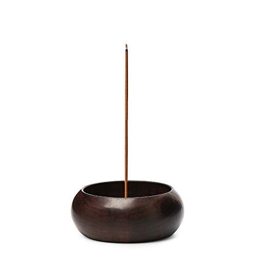 Nawo Wooden Handmade Incense Stick Holder - Incense Burner Made from Siam Rosewood - Insences Holder