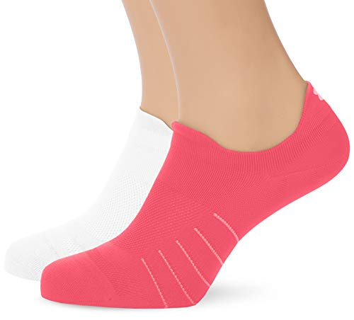 Under Armour UA Pinnacle Lo - Calcetines, Mujer, Rosa (Mojo Pink/White/Elemental 641), M