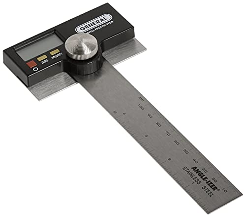 General Tools 1702 6-Inch Stainless Steel Pivoting Arm Digital Protractor