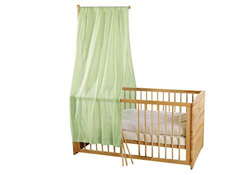 Bio Baby Betthimmel 100% Bio-Baumwolle (kbA) GOTS zertifiziert, Mintgrün, 115 x 300 cm