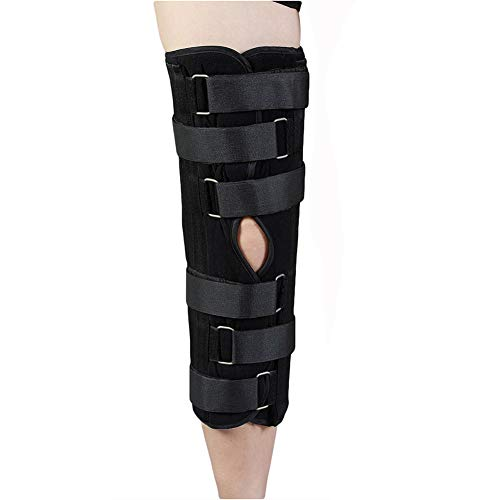 TANDCF Knee Immobilizer Secure Comfort Knee Brace & Stabilizer for Recovery,Knee Fractures,Instability, ACL,MCL,Meniscus Tear,Arthritis,Displacement & Post Surgery Recovery,Height 18.1' Universal