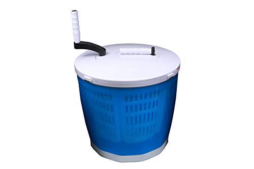 forêt(フォーレ)【国内メーカーが販売】いつでもどこでも 洗濯機、手回しポータブル洗濯機 、手回し洗濯機 洗濯機 手動クランクハンドル付き、便利なブラシ付き、キャンプ場やアウトドアで使える、子どもの運動靴洗い(※20㎝以下の物)、緊急・災害時に便利、洗濯・すすぎ・排水・脱水、野菜や芋洗いなどの業務用