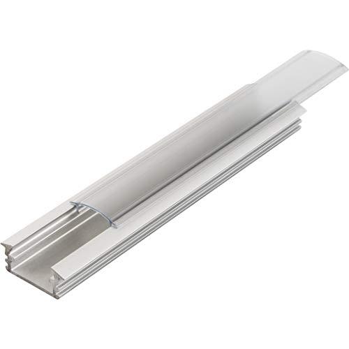 KIT de 6 x 1 mètre P1 Profilé en aluminium ARGENT pour les bandes LED avec couvercles transparents, bouchons et clips de fixation