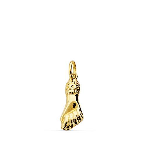 Alda Joyeros Colgante puño Mano Oro Amarillo 18 Kilates 18 x 7mm - Amuleto higa/figa