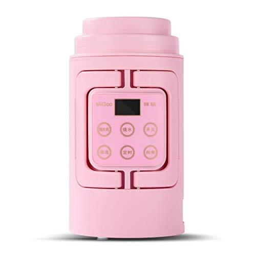 ZBINGAFF Reisewasserkocher Mini-Milch/Reiskocher multifunktionale Klappreiskocher mit Kleiner Kapazität tragbare elektrische Warmwasserschale/Milchwärmer 110V / 700ML (Color : Pink, Size : 110V)