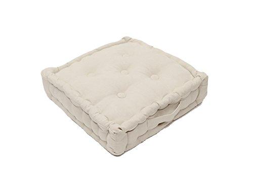Soleil d'ocre Cojín de Suelo de algodón 50x50x10 cm Panama Crudo