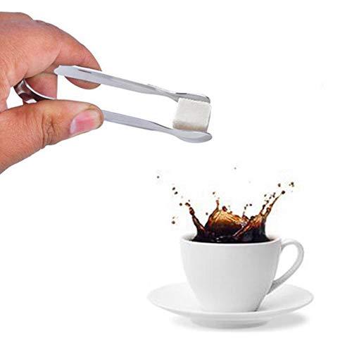 Lyanther 2 Stück Zuckerzange Eiszange Edelstahl Mini Servierzange Vorspeisen Zange Kleine Küchenzange für Tea Party Coffee Bar Küche