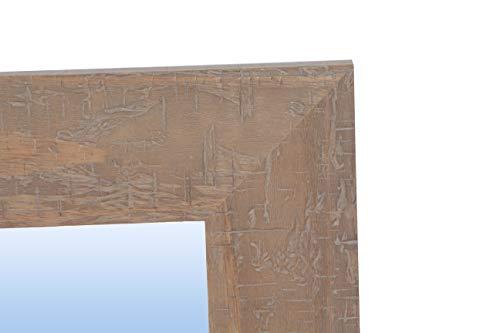 Espejo de Pared con Marco de Madera rústico (Varios tamaños y Colores) | Serie 2671-7 (100 x 100 cm)