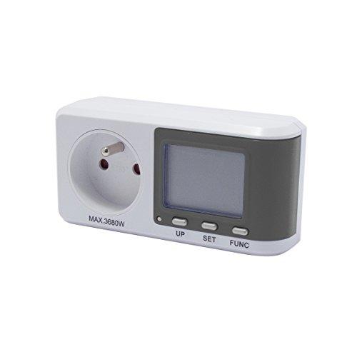 Chacon Prise Consommation Electrique , Compteur de Consommation , Consomètre - EcoWatt 570