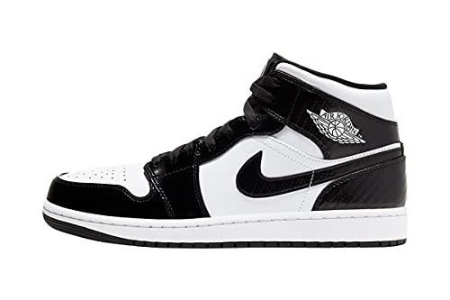 Nike Jordan 1 Mid All Star Carbon Fiber Black/White Men's DD1649-001 (Numeric_8)