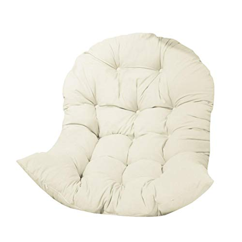 XUFAN Swing Hanging Basket Seat Cushion Thickened Hanging Egg Hammock Chair Cushion Pad for Patio Garden sofa chair (Color : White)