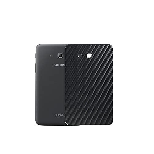VacFun 2 Piezas Protector de pantalla Posterior, compatible con Samsung Galaxy Tab 3 Life SM-T110 T111 T113 T116 7', Película de Trasera de Fibra de carbono negra Skin Piel