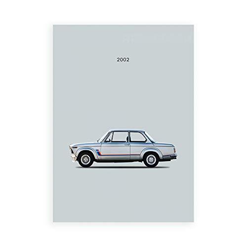 DìMò ART Stampa su Tela (Canvas) Rogan Mark BMW 2002 Turbo Misura 100x75 CM