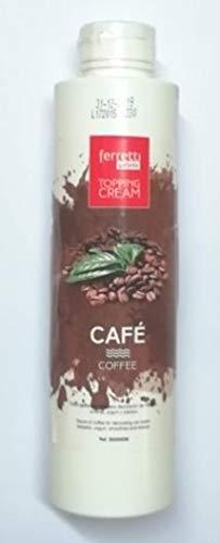 Topping Cream Salsa de Café para decoración de helados, postres, yogurt y batidos (botella 0,75kg)