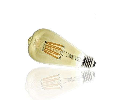BlueBD GmbH - Lampadina LED da 8 W equivalente a un'intensità luminosa pari a 40 W, attacco E27, classe A, intensità luminosa regolabile