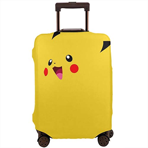 Travel Luggage Cover Cute Pikachu Luggage Protector Suitcase Cover Fits 18-32 Inch Luggage