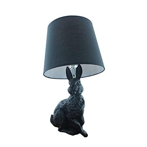Damai Mode Résine Créative Animaux Chambre D'hôtel Enfants Lampe De Lapin Dessin Animé Noir Lampe LED (28 * 53cm)