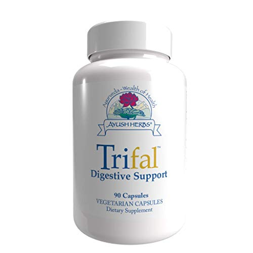 Ayush Herbs Trifal, Digestive Support Supplement for Women and Men, Capsules for Digestion, Intestinal Health, and Antioxidant Boost, Ayurvedic Herbs and Supplements, 90 Vegetarian Capsules