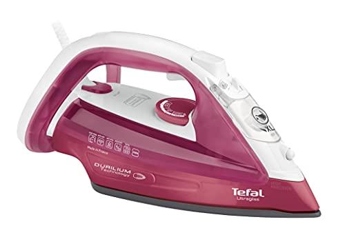Tefal FV4920 Dampfbügeleisen Ultragliss | hervorragende Gleitfähigkeit | maximale Dampfverteilung | Eco-Modus | 2.400W | 140g/Min. Dampfstoß | Rot/Weiß