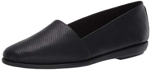 Aerosoles Women's Casual, Flat Loafer, Black, 6 Wide
