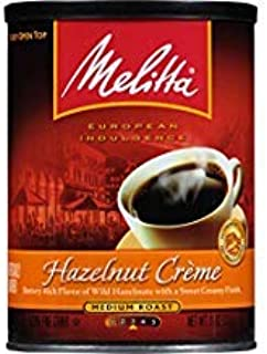 Melitta Hazelnut Crème Flavored Medium Roast Ground Coffee, 11 Ounce
