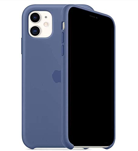 ILJILU Liquid Silicone Case Compatible for iPhone 11 6.1 inch, Gel Rubber Full Body Protection Anti-Scratch Non-Slip and Drop-Proof Compatible with iPhone 11 (Linen Blue)