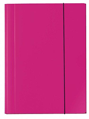 Veloflex 4442371 Sammelmappe Velocolor, DIN A4, Eckspannermappe, Ordnungsmappe, Zeichenmappe, pink