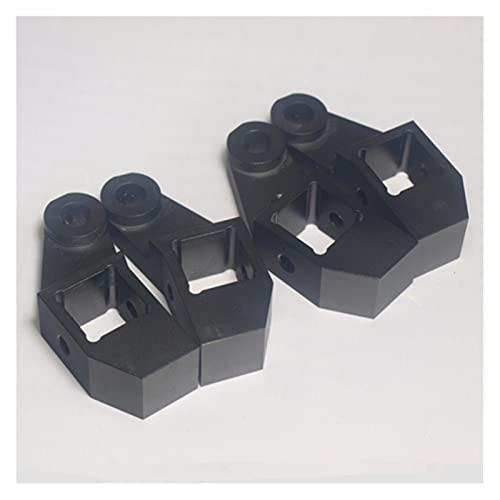 XINYE wuxinye Black Color Aluminum Alloy Bed Frame Extrusion Left+right Bed Corner Kit Fit For DIY Lulzbot TAZ 3D Printer