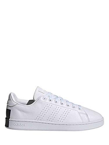 adidas Advantage, Zapatillas de Tenis Hombre, FTWBLA/FTWBLA/NEGBÁS, 46 2/3 EU