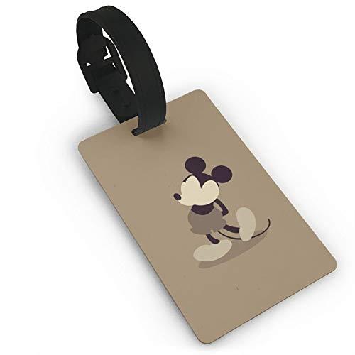 DNBCJJ Etiquetas de equipaje para maletas Mickey Mouse Cool (3) etiqueta de equipaje, con nombre ID maleta para mujeres, hombres, niños, accesorios de viaje