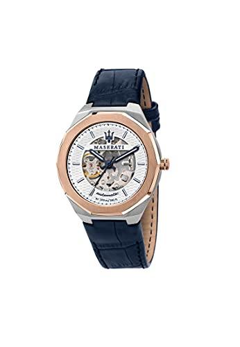 Maserati Reloj Hombre, Colección Stile, Automático, Solo Tiempo, en Acero, Cuero - R8821142001