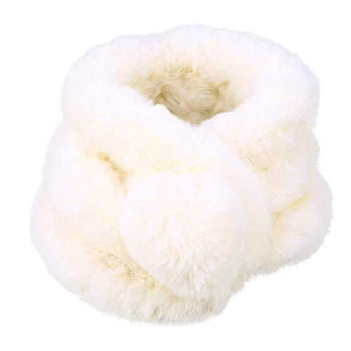 BESTOYARD Collare sciarpa in Pelliccia artificiale caldo scaldacollo per Inverno Abbigliamento per donna ragazze Beige