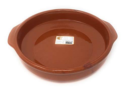Cazuela, traditionel, flach, braun 32 cm