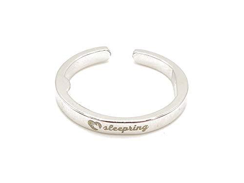 Anti-Schnarchring Original Sleepring | Schnarchstopper | Der Ring gegen Schnarchen | Sofort Hilfe gegen Schnarchen (M (Ringgröße: 53 – 60) Platinlegierung)