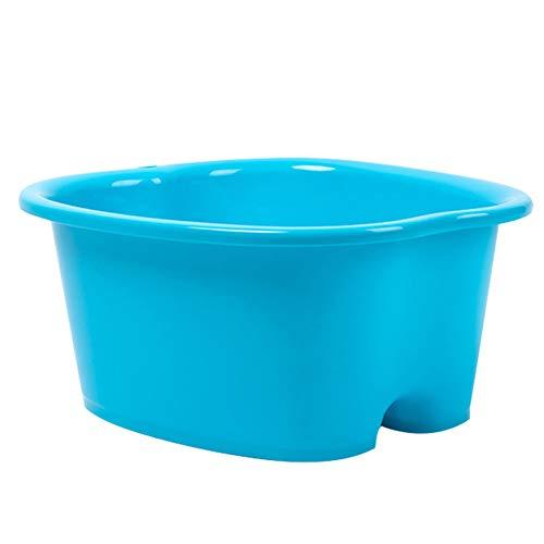 Hvoz Fußbad Spa-Schüssel Fußpflege Bad SPA Kunststoff Wanne Fuß Einweichen Becken Pediküre Detox Massage Füße blau